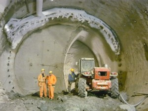 Shot concreting, rock congelation