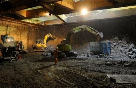Metró állomás építés milánói módszerrel